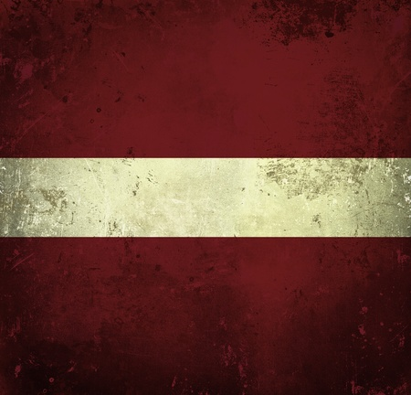 Grunge flag of Latvia  photo