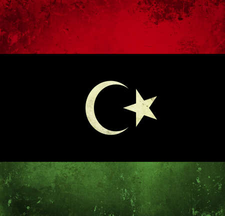 Grunge flag of Libya photo