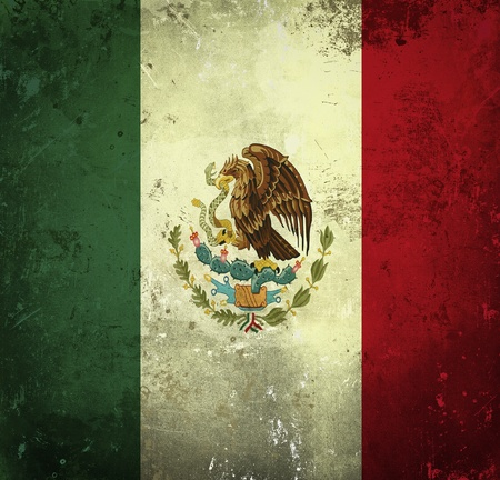 mexico background: Grunge flag of Mexico