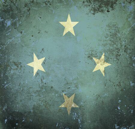 micronesia: Grunge flag of Micronesia