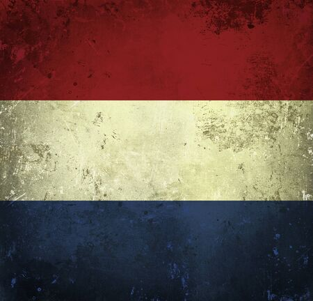 Grunge flag of Netherlands photo