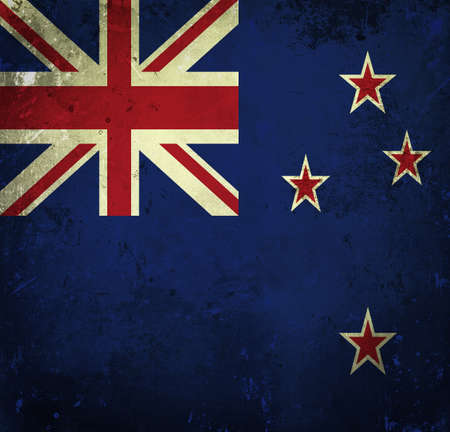 Grunge flag of New Zealand photo