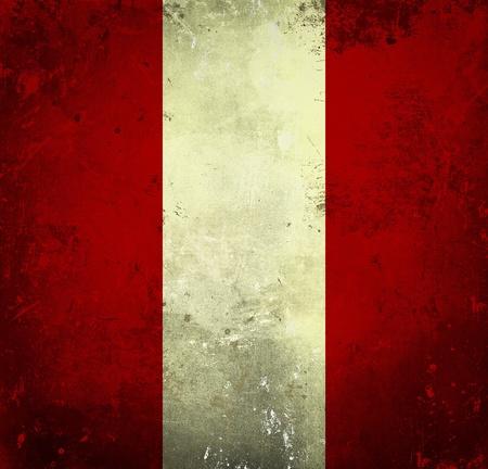 Grunge flag of Peru photo