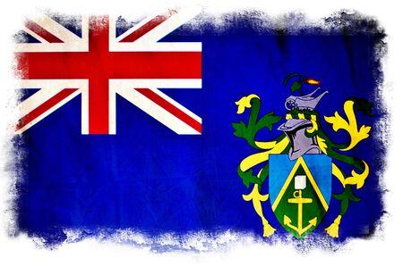 pitcairn: Pitcairn Islands grunge flag