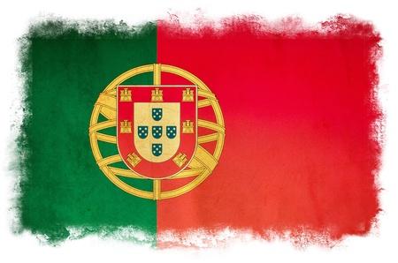 portugal flag: Portugal grunge flag