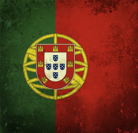 Grunge flag of Portugal photo