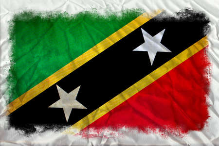 Saint Kitts and Nevis grunge flag photo