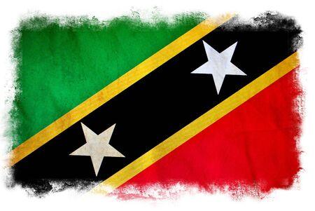 Saint Kitts and Nevis grunge flag photo