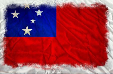 samoa: Samoa grunge flag