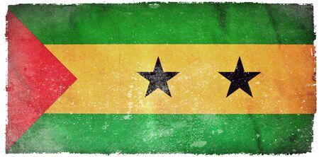 principe: Sao Tome and Principe bandera del grunge