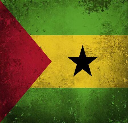 principe: Grunge bandera de Sao Tome and Principe