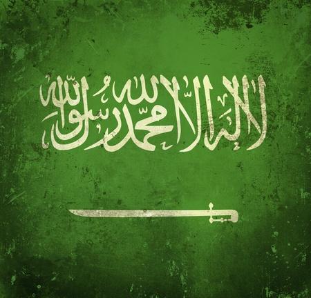 saudi: Grunge flag of Saudi Arabia