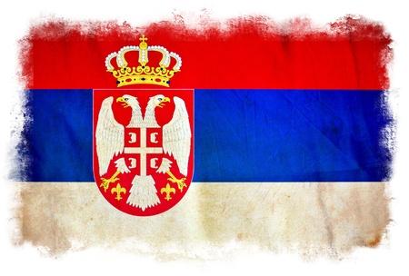 Serbia grunge flag Stock Photo - 12415440
