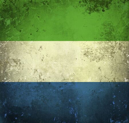 Grunge flag of Sierra Leone photo