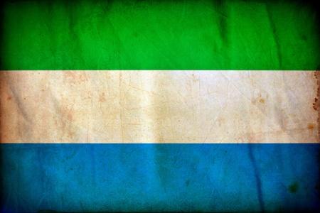 Sierra Leone grunge flag photo