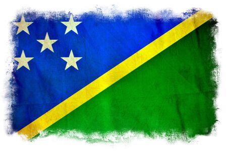 solomon: Solomon Islands grunge flag Stock Photo