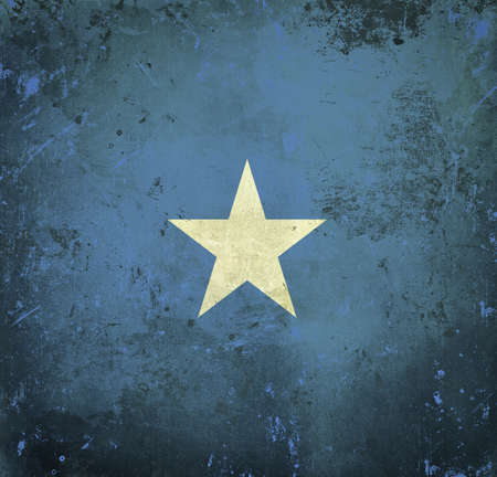 Grunge flag of Somalia photo