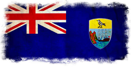 helena: Saint Helena grunge flag Stock Photo