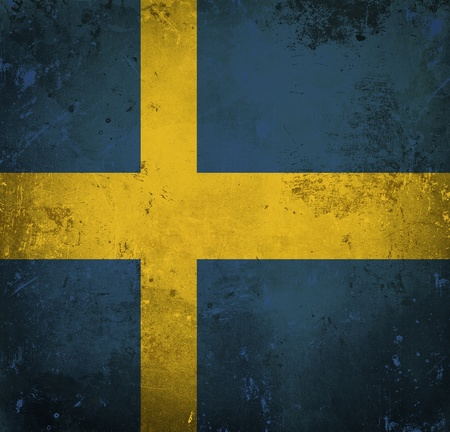 Grunge flag of Sweden photo