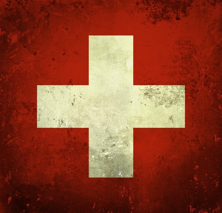 swiss: Grunge flag of Switzerland
