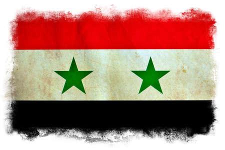 Syria grunge flag photo