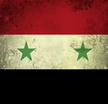 Grunge flag of Syria photo