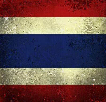 Grunge flag of Thailand photo