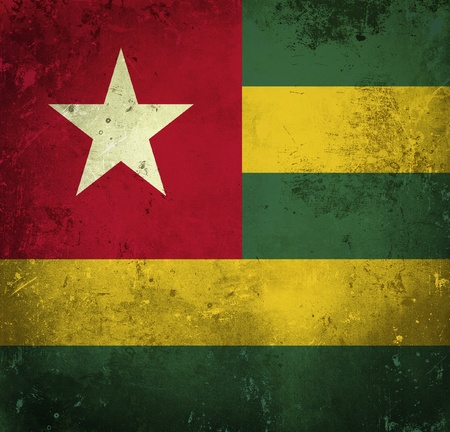 Grunge flag of Togo photo