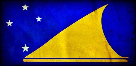 tokelau: Tokelau grunge flag