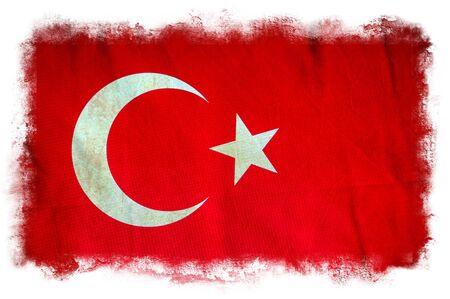 Turkey grunge flag photo