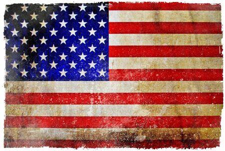 Vintage USA flag photo