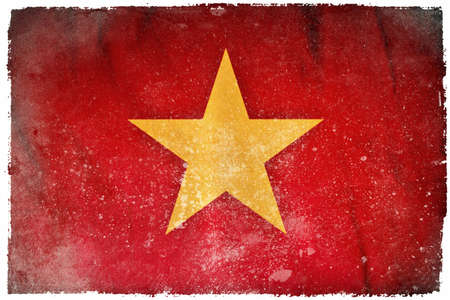 Vietnam grunge flag photo
