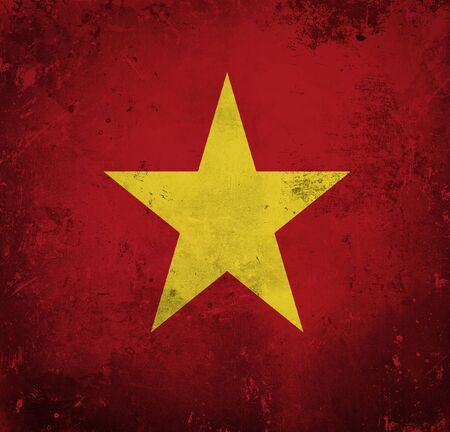 Grunge flag of Vietnam photo