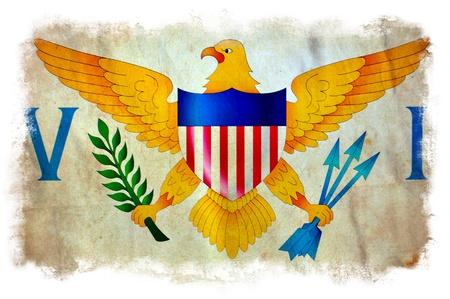the virgin islands: Virgin Islands grunge flag
