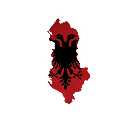 Map of Albania isolated photo