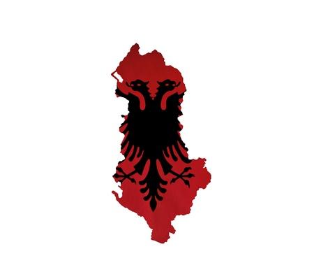 albania: Map of Albania isolated
