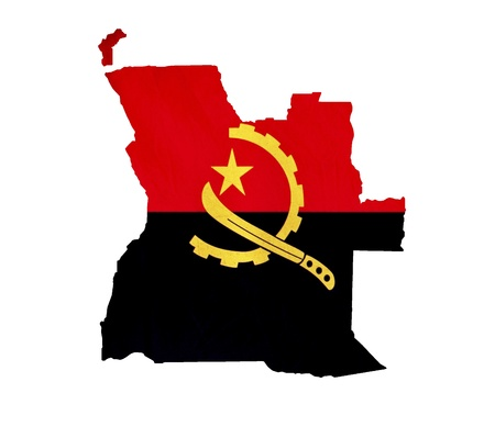 map of angola: Map of Angola isolated