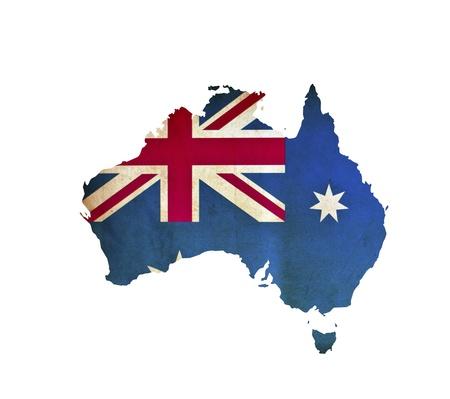 Map of Australia isolated photo