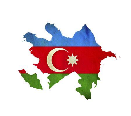 Map of Azerbaijan isolated photo