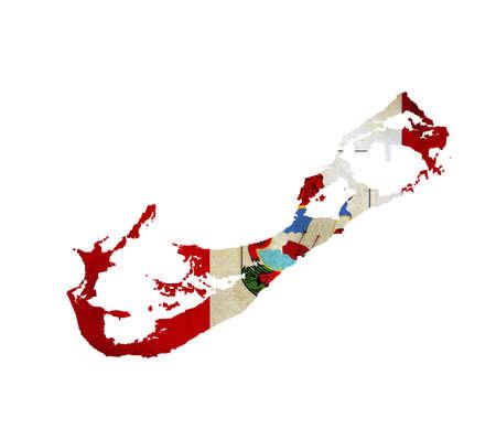 bermuda: Map of Bermuda isolated Stock Photo