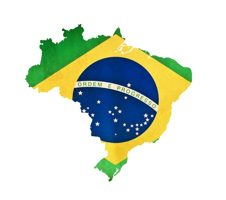 brazil symbol: Map of Brazil isolated