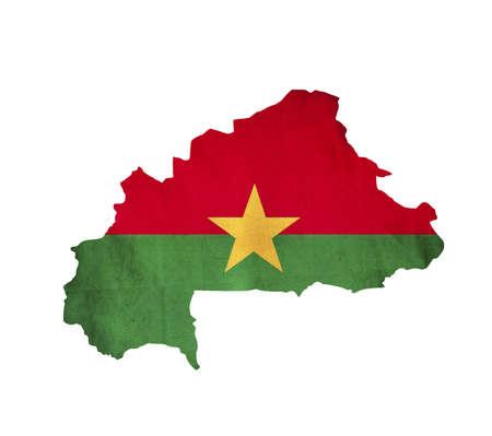 burkina faso: Map of Burkina Faso isolated Stock Photo