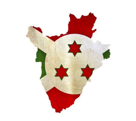 Map of Burundi isolated photo