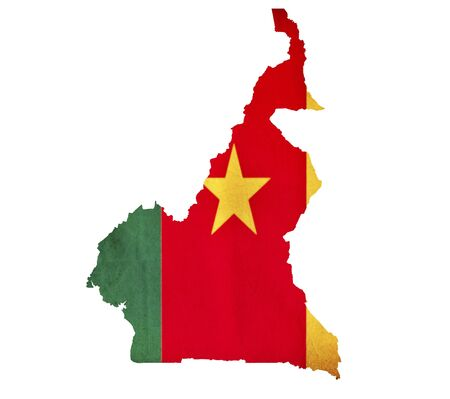 cameroon: Map of Cameroon isolated Stock Photo