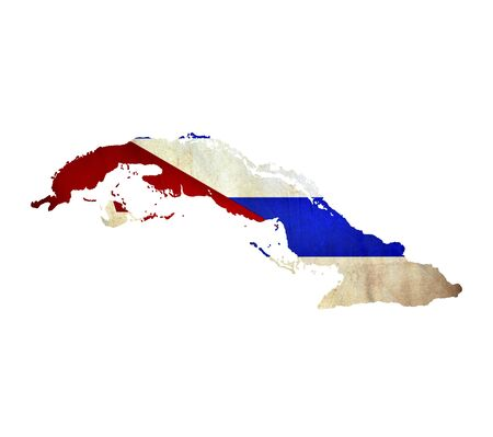 cuba flag: Map of Cuba isolated