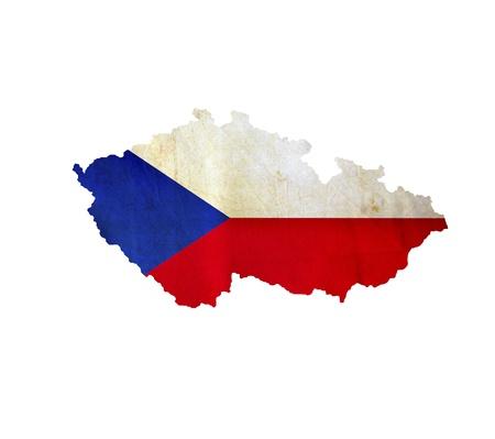 czech republic flag: Map of Czech Republic isolated Stock Photo