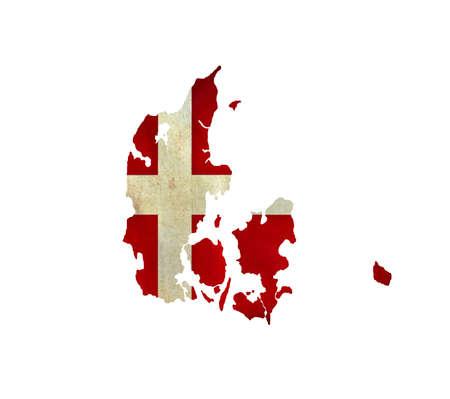 Map of Denmark isolated photo