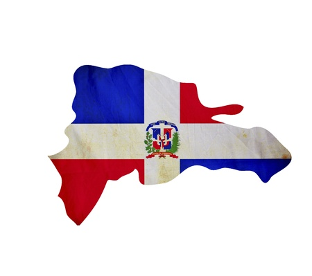 Map of Dominican Republic isolated photo