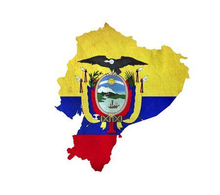 republic of ecuador: Map of Ecuador isolated Stock Photo