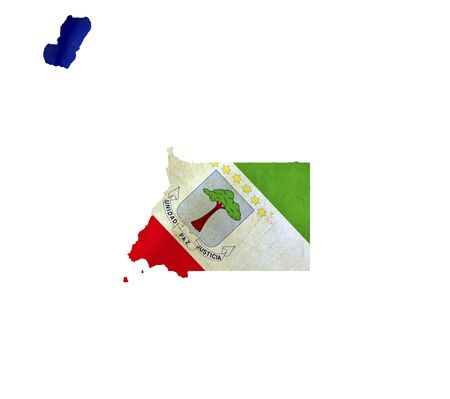 Map of Equatorial Guinea isolated photo